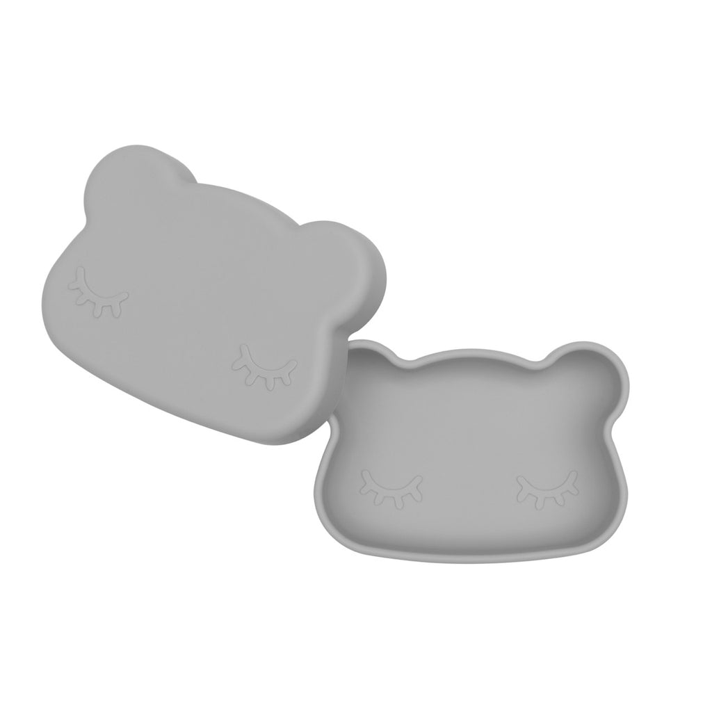 We Might Be Tiny Light Grey Bear Snack Container