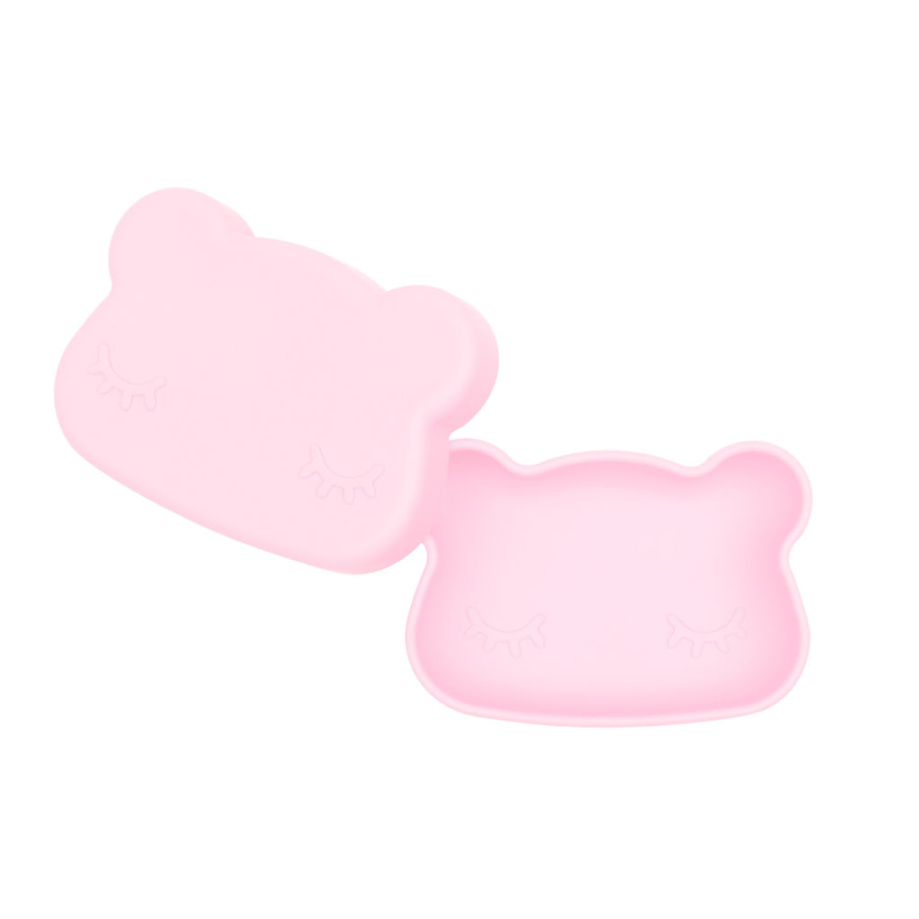 We Might Be Tiny Powder Pink Bear Snack Container