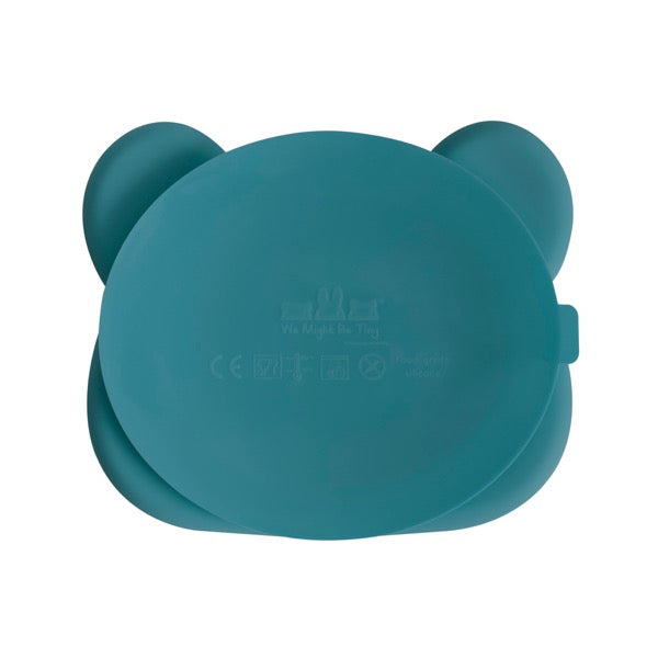 We Might Be Tiny Blue Dusk Bear Suction Plate