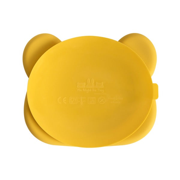 We Might Be Tiny Yellow Bear Suction Plate