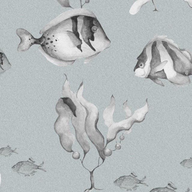 Dekornik Black & White Fish Wallpaper