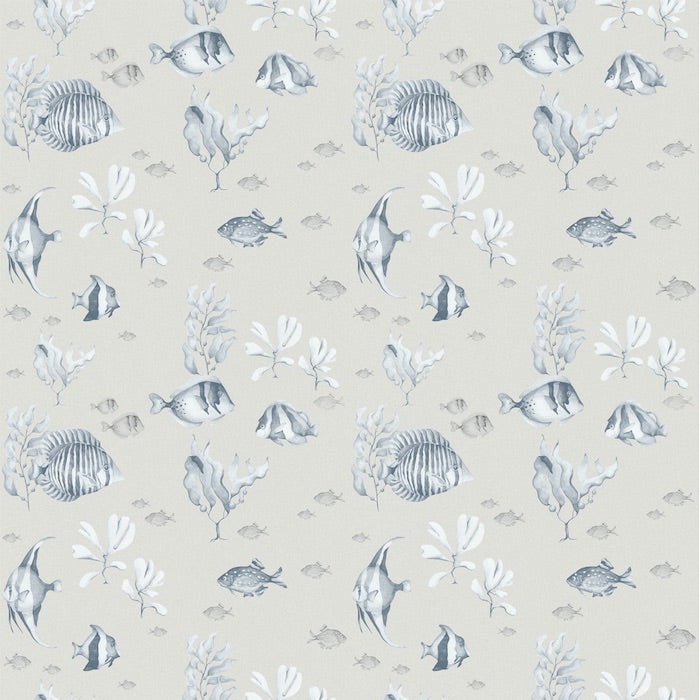 Dekornik Blue & Beige Fish Wallpaper
