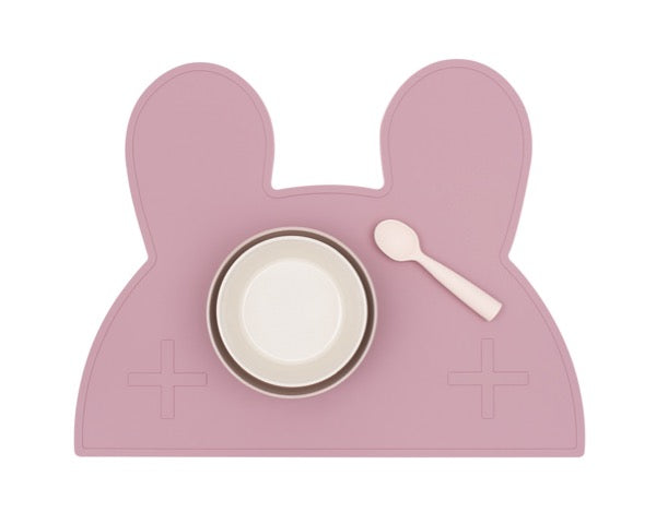 We Might Be Tiny Bunny Placemat - Dusty Rose