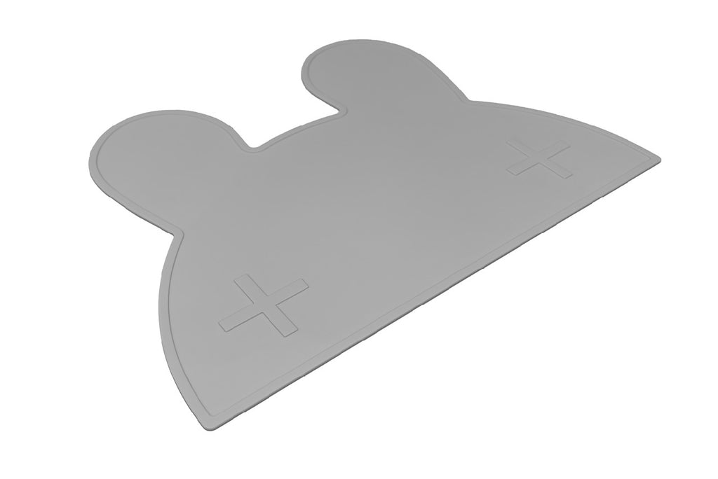 We Might Be Tiny Grey Bunny Placemat