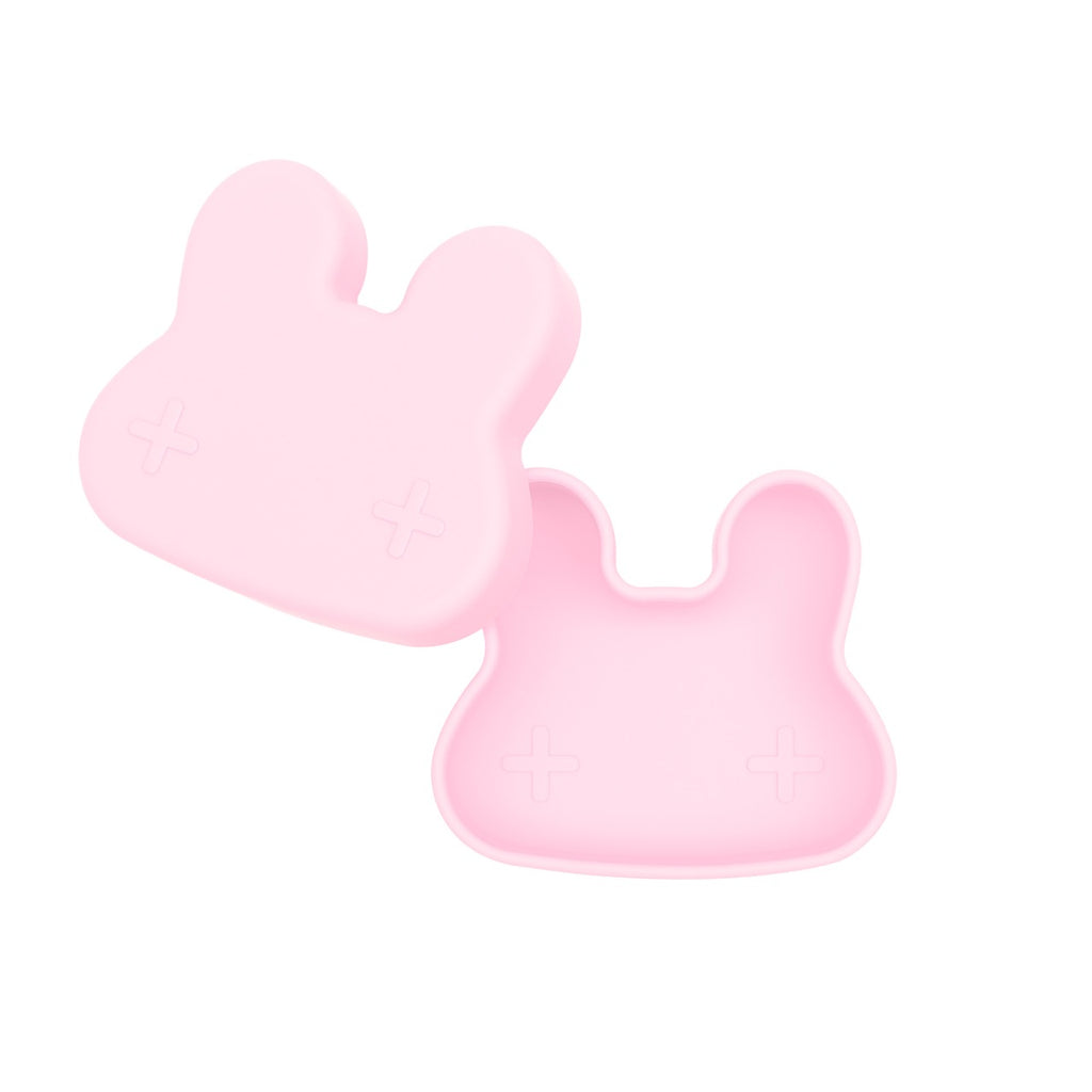 We Might Be Tiny Powder Pink Bunny Snack Container