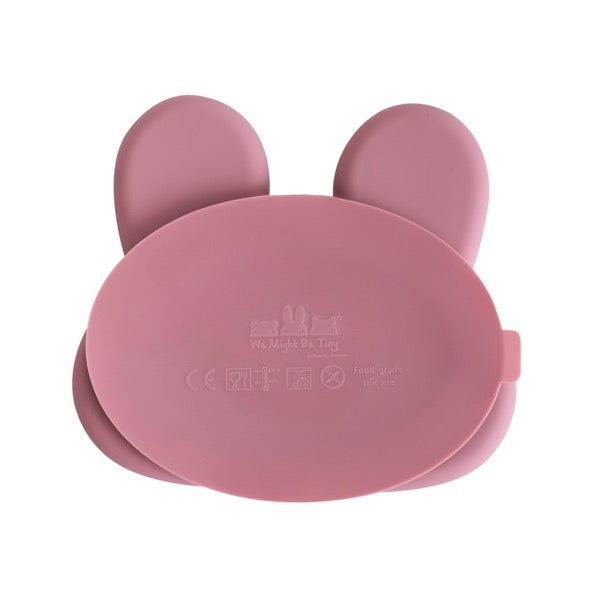 We Might Be Tiny Bunny Suction Plate - Dusty Rose