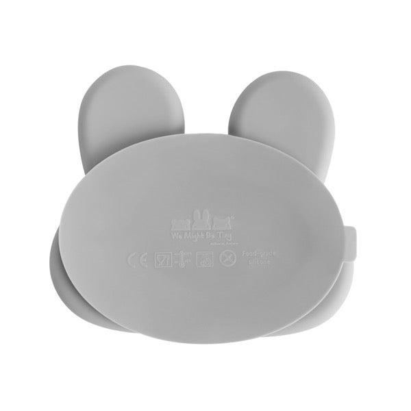 We Might Be Tiny Bunny Suction Plate - Grey