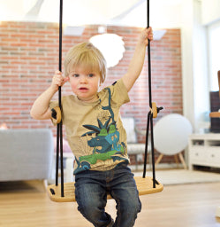 Lillagunga Oak Wood Kids Swing - Oliver Thomas Children's Boutique