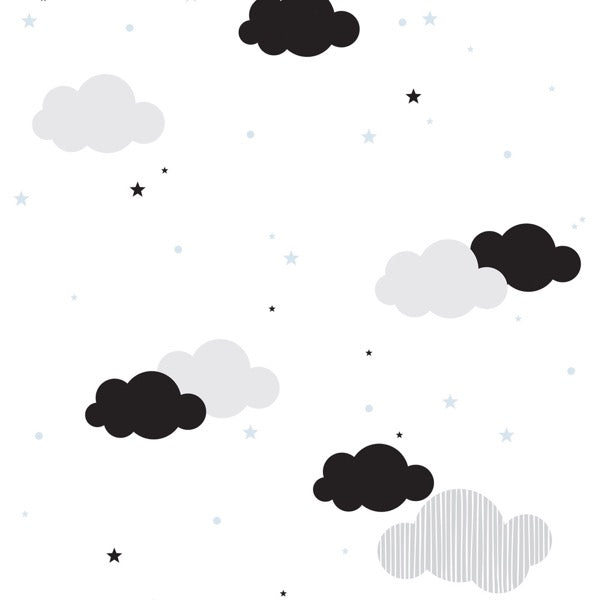 Dekornik Clouds & Blue Stars Wallpaper