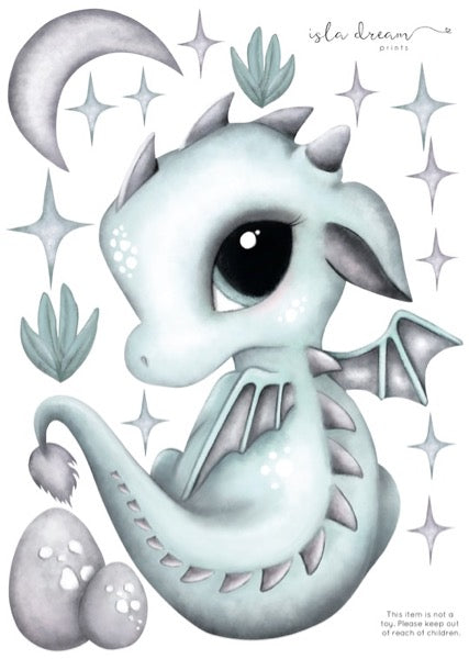 Isla Dream Prints Dex The Dragon Wall Decals - Oliver Thomas Children's Boutique