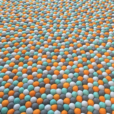 Winston & Grace Felt Ball Rug - Dream Weaver
