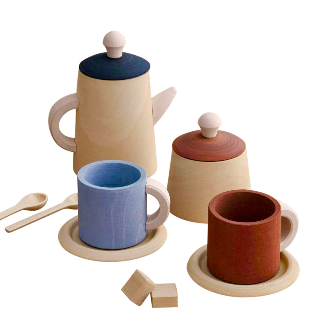 Raduga Grëz Wooden Tea Set - Terra & Blue
