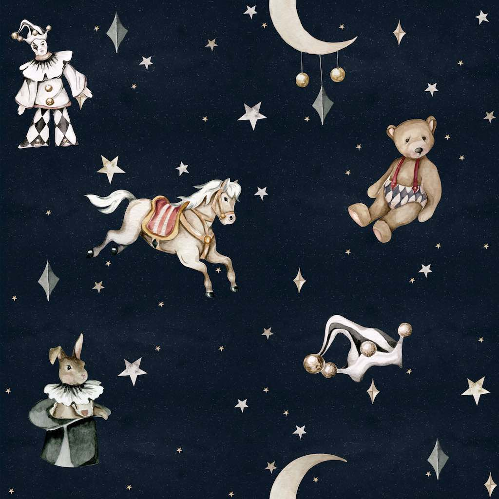 Dekornik French Characters In The Night Sky Wallpaper