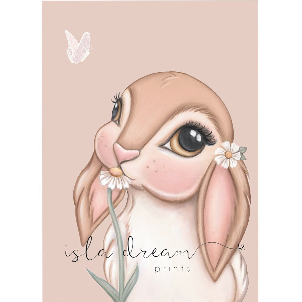 Isla Dream Prints Fawn Bunny Print - Nude Background