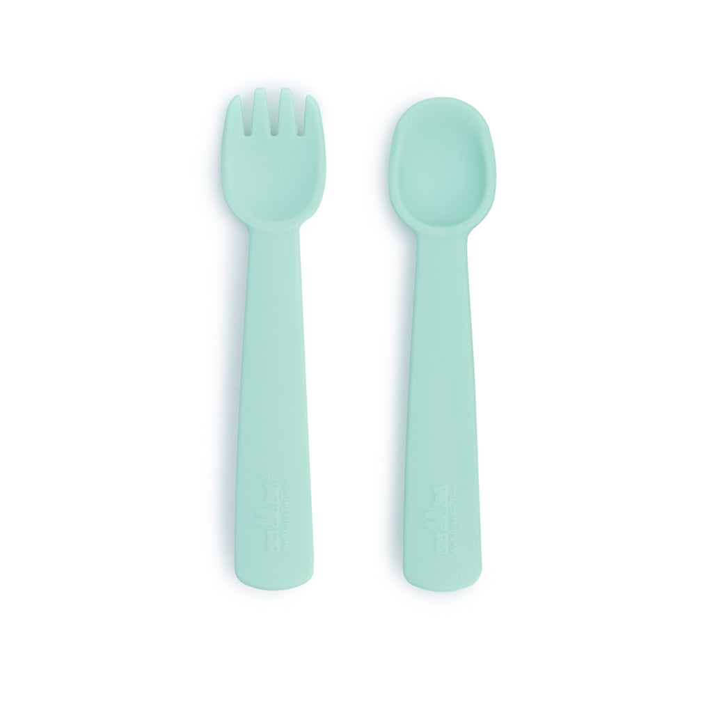 We Might Be Tiny Mint Feedie Fork & Spoon Set