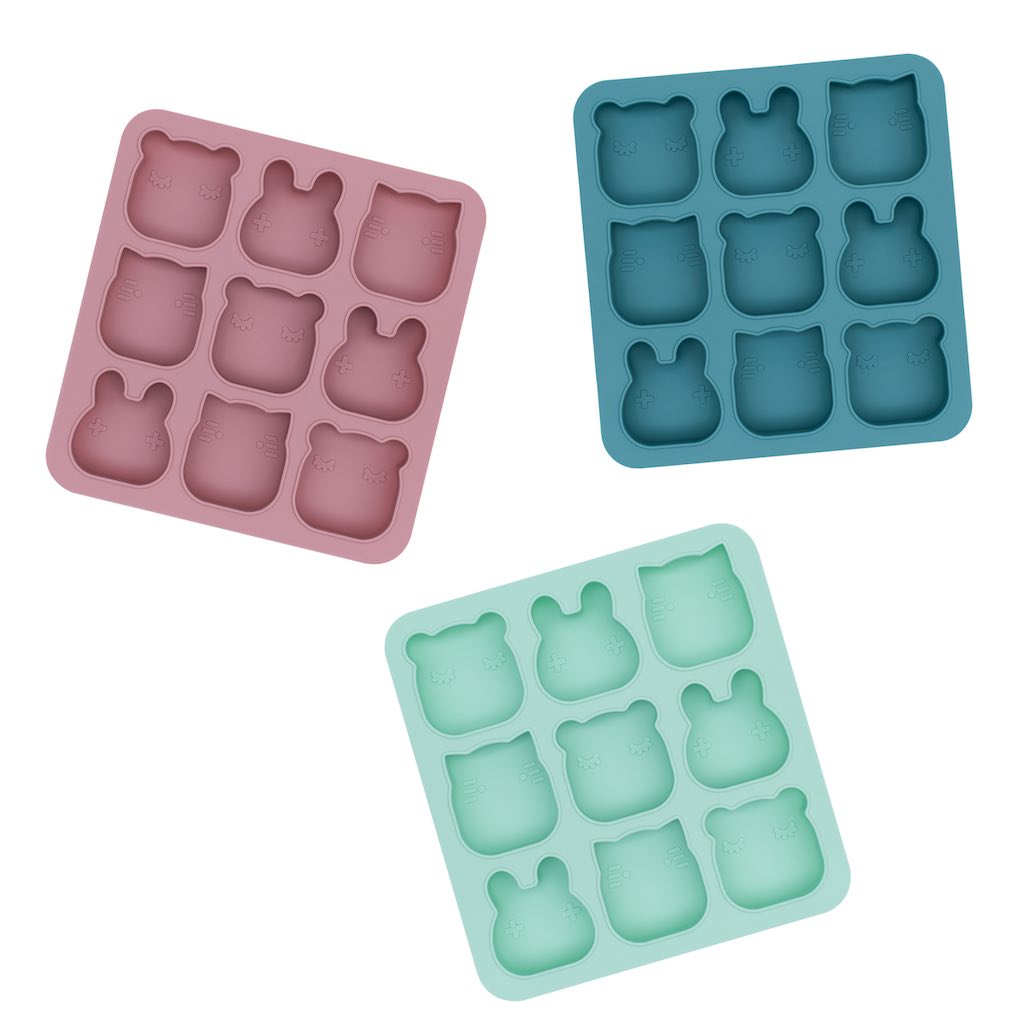 We Might Be Tiny Freeze & Bake Poddies in Mint, Dusty Rose and Blue Dusk
