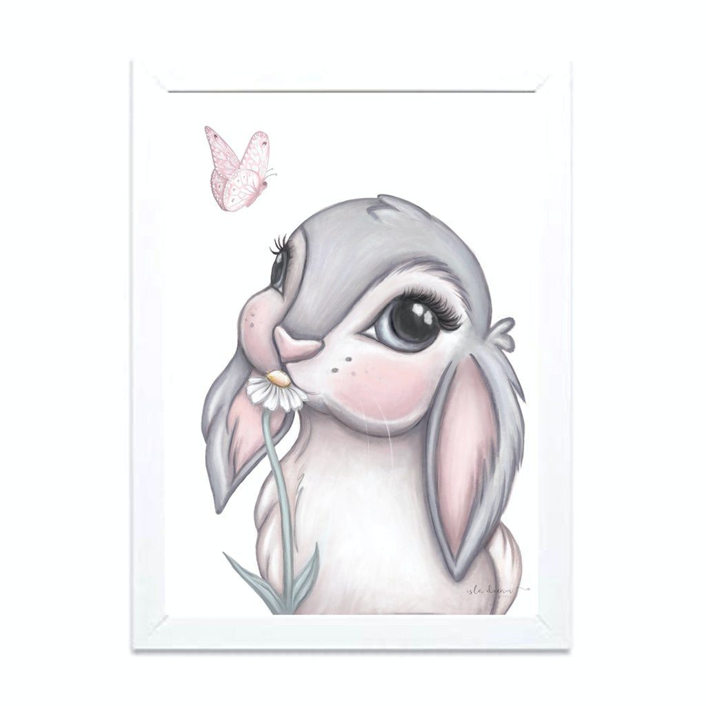 Isla Dream Prints Freya Bunny Print framed with no background