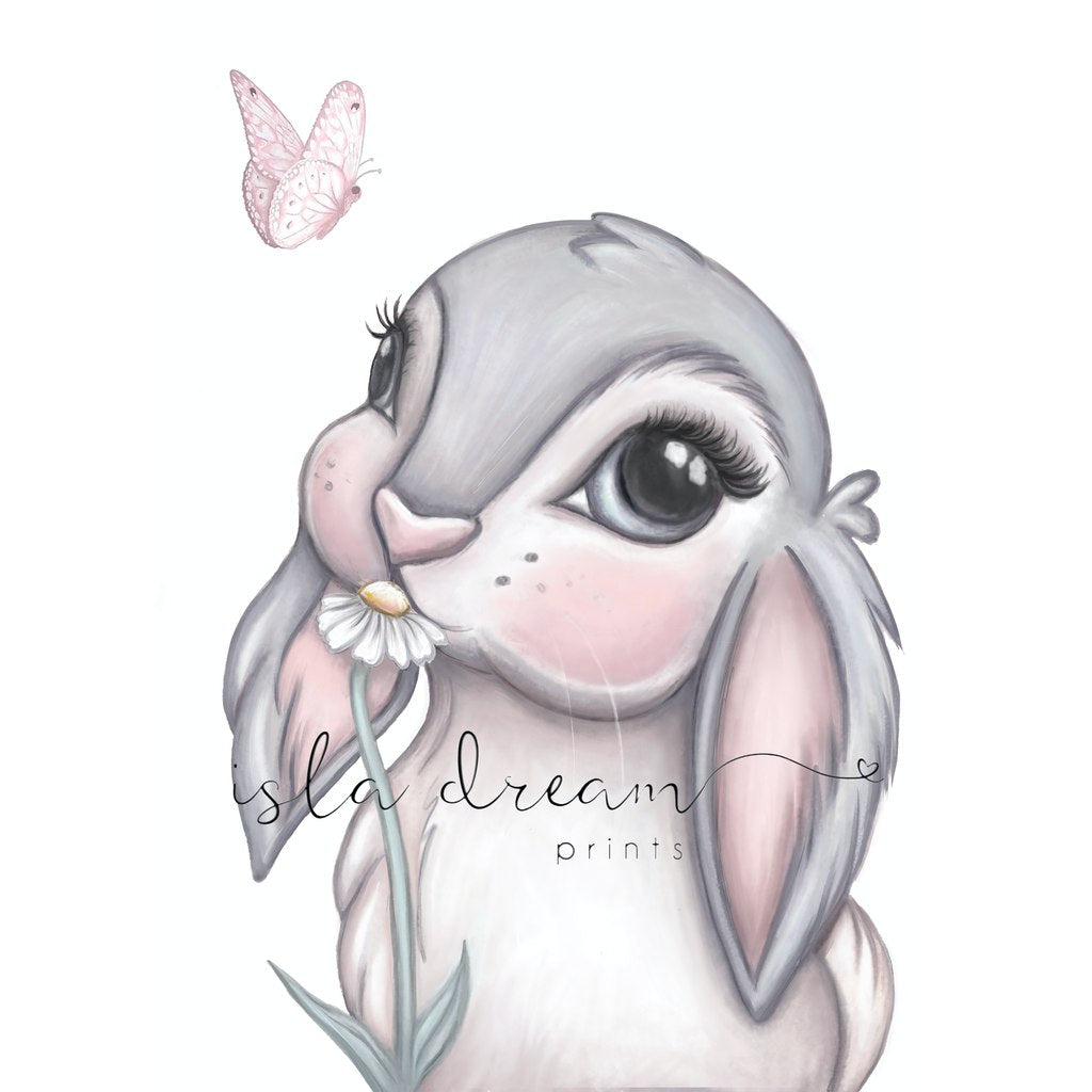 Isla Dream Prints Freya Bunny Print with no background
