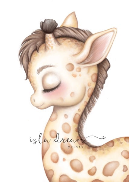 Isla Dream Prints Gerald The Giraffe Print