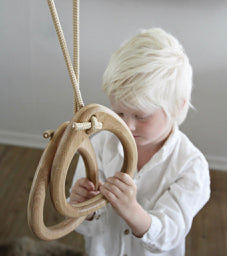 Lillagunga Gymnastic Rings - Oak - Oliver Thomas Children's Boutique