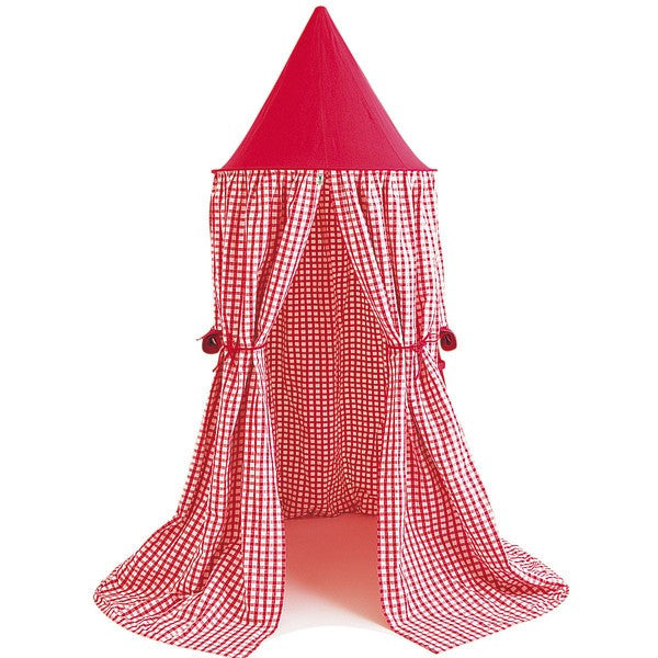 Cherry Red Gingham Canopy Hanging Tent
