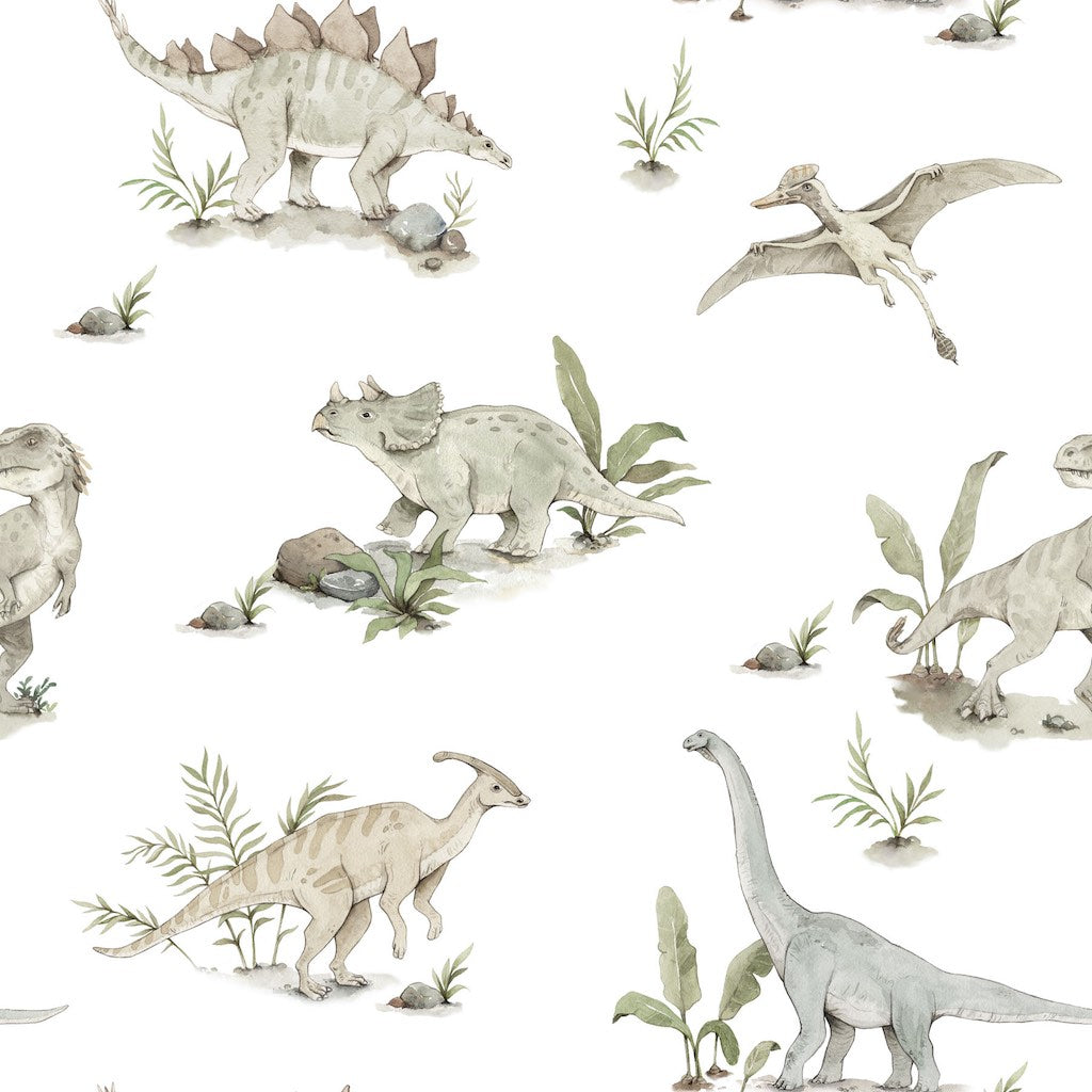 Dekornik Happy Dinos Wallpaper