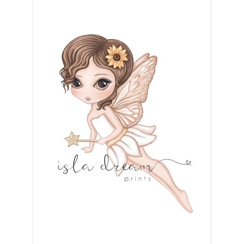 Isla Dream Prints Hazel The Butterfly Fairy Print