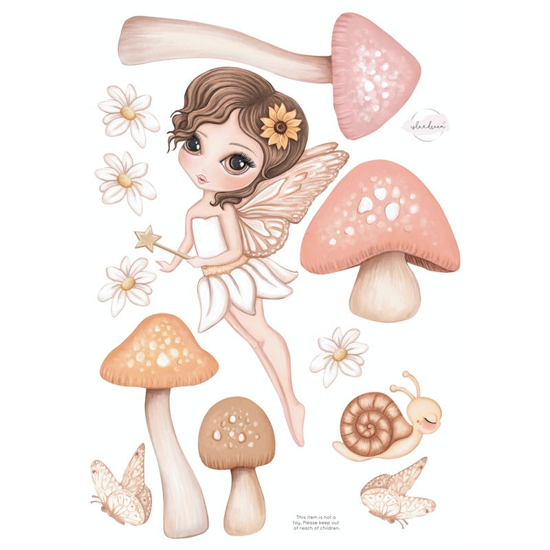 Isla Dream Prints Hazel Fairy Fabric Wall Decals