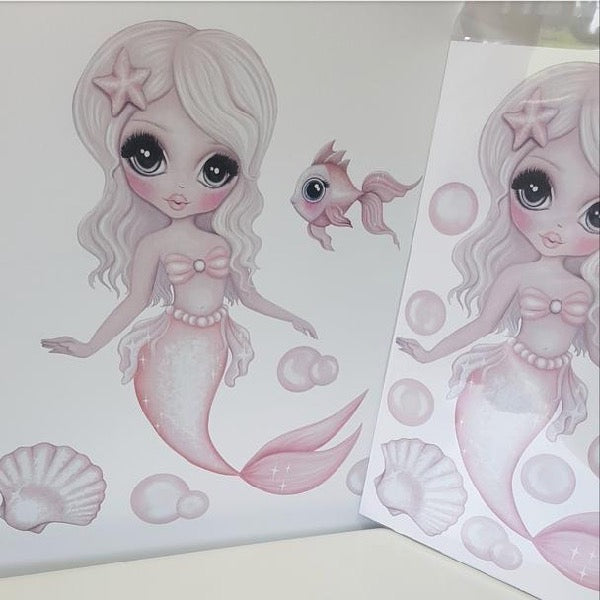 Isla Dream Prints Jewel The Mermaid Wall Decals