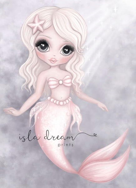 Isla Dream Prints Mermaid In Ocean Print