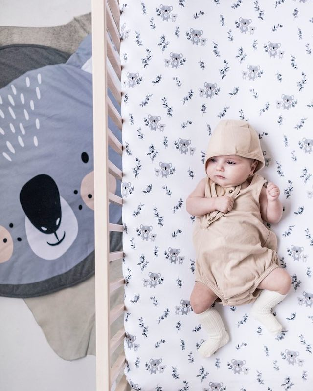 Mister Fly Koala Buddies Fitted Cot Sheet