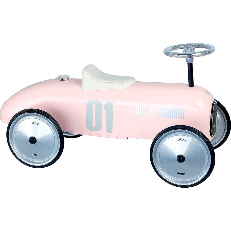 Vilac Light Pink Ride On Classic Car