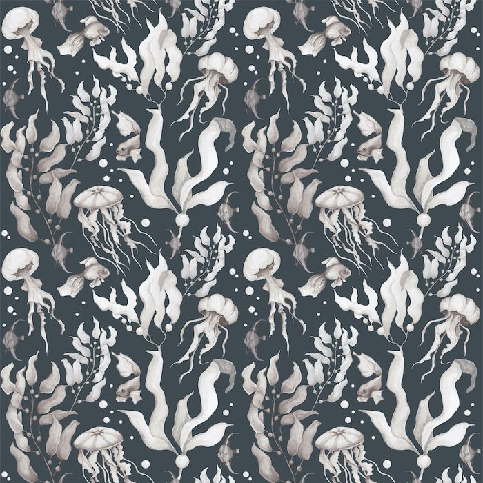 Dekornik Magic Of The Ocean Navy Blue Wallpaper
