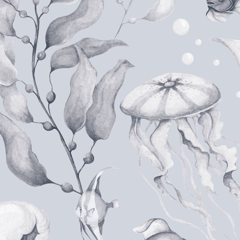 Dekornik Magic Of The Ocean Creamy Blue Wallpaper
