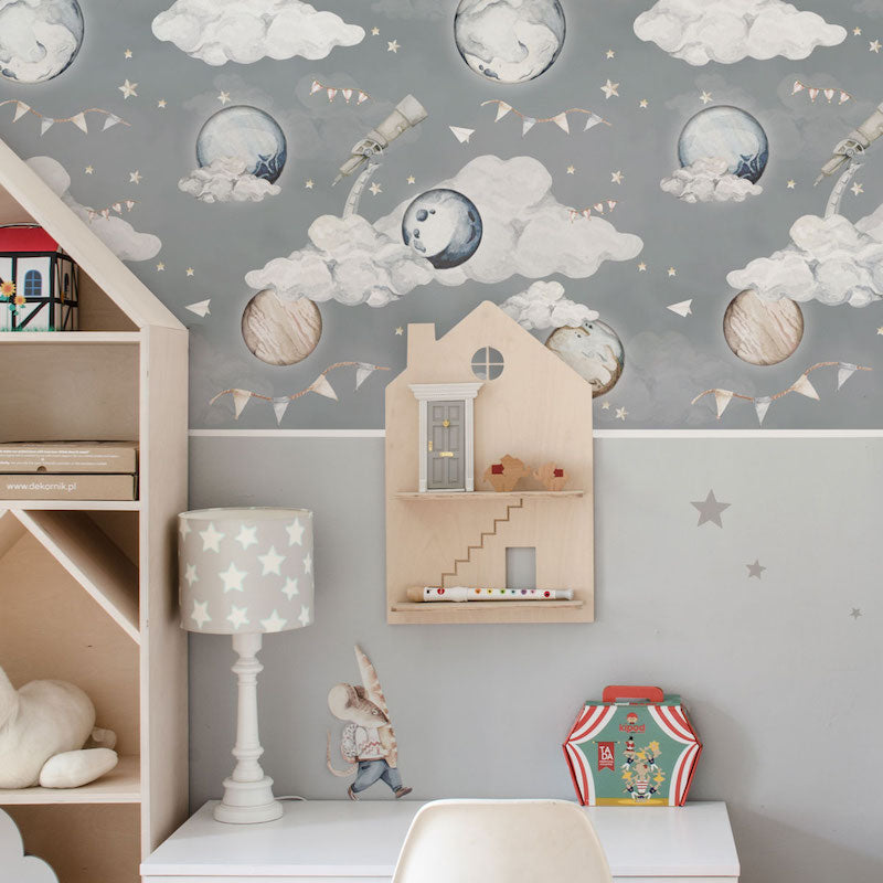 Dekornik Magic Planets Wallpaper in Nursery