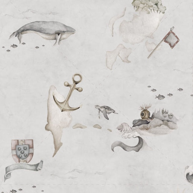 Dekornik Map Stories From The Sea Colour Wallpaper