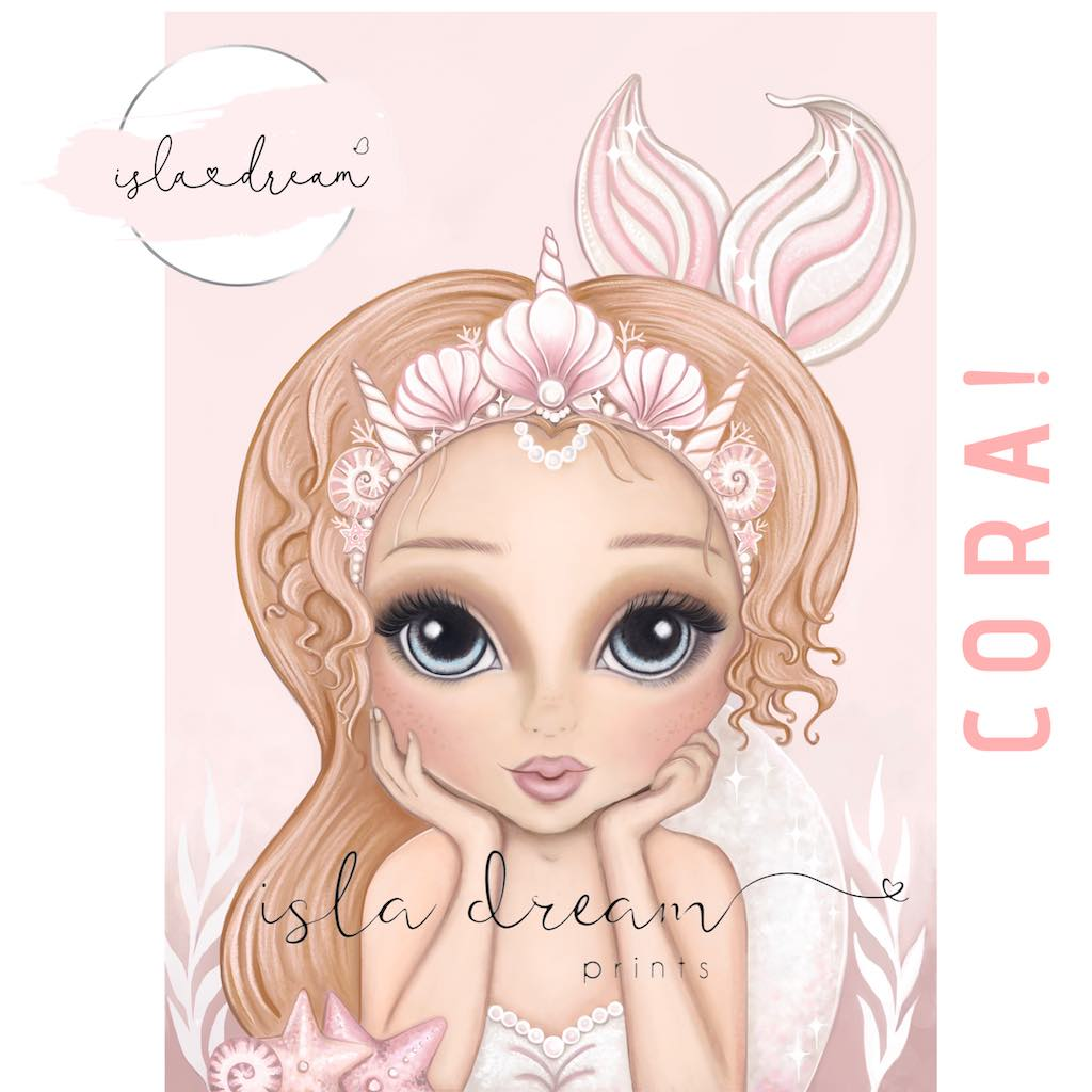 Isla Dream Prints Cora Mermaid Print
