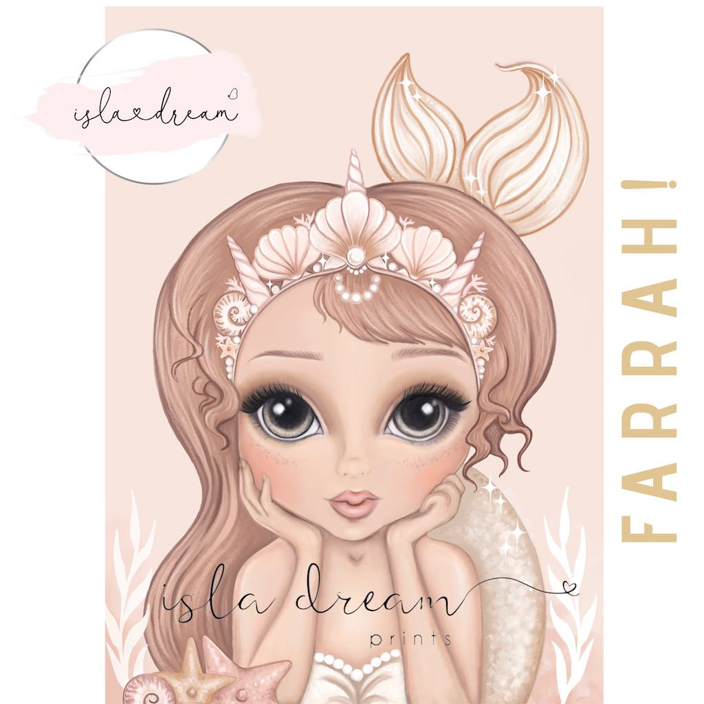 Isla Dream Prints Farrah Mermaid Print