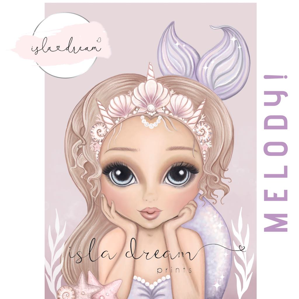 Isla Dream Prints Melody Mermaid Print