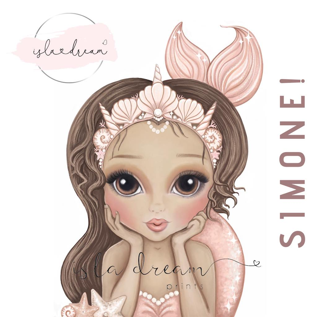 Isla Dream Prints Simone Mermaid Print