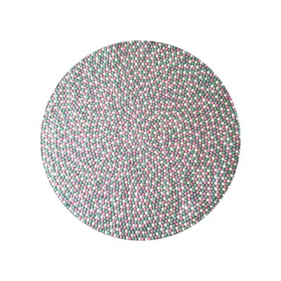 Winston & Grace Felt Ball Rug - MintMallow