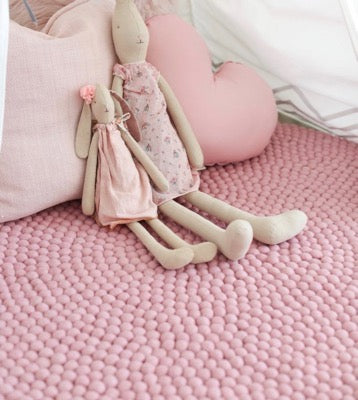 Winston & Grace Felt Ball Rug - Miss Pink