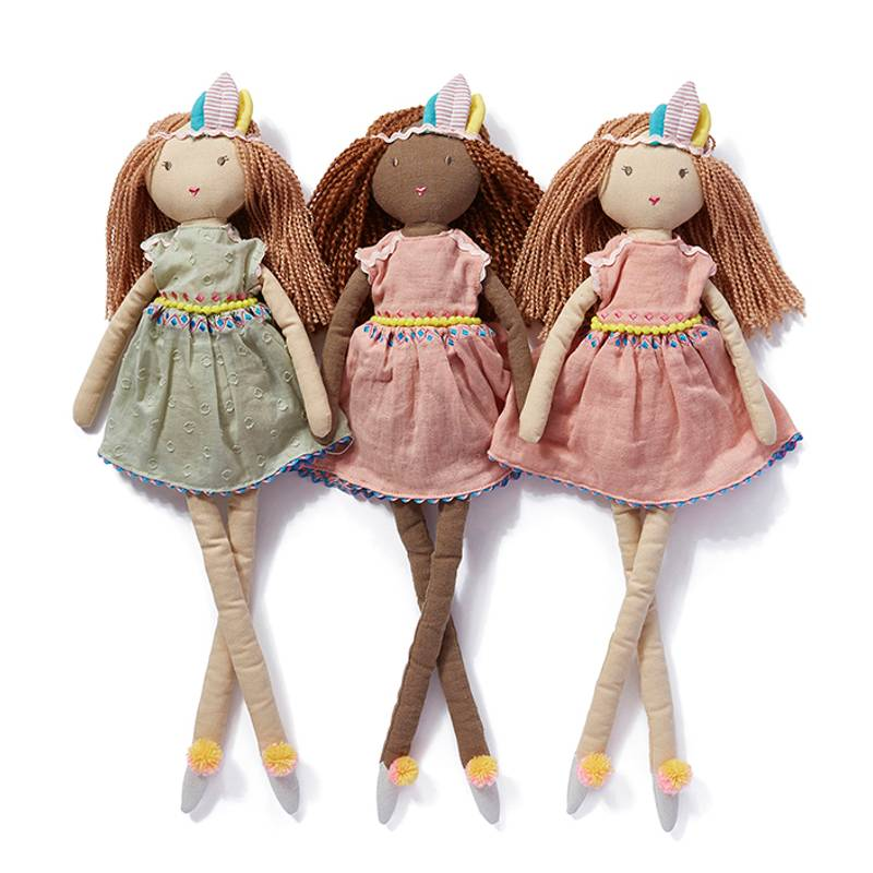Nana Huchy Miss Luna Doll with Miss Summer and Miss Willow