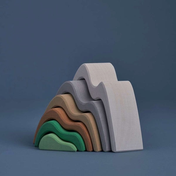 Wooden Mountains Stacker Toy