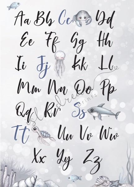 Isla Dream Prints Nautical Alphabet Poster