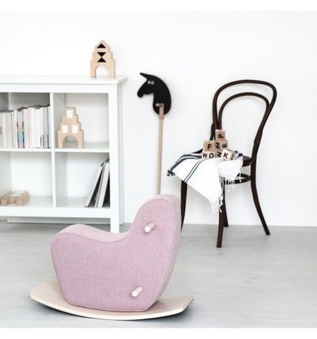 Ooh Noo Toddler Rocking Horse | Pale Pink
