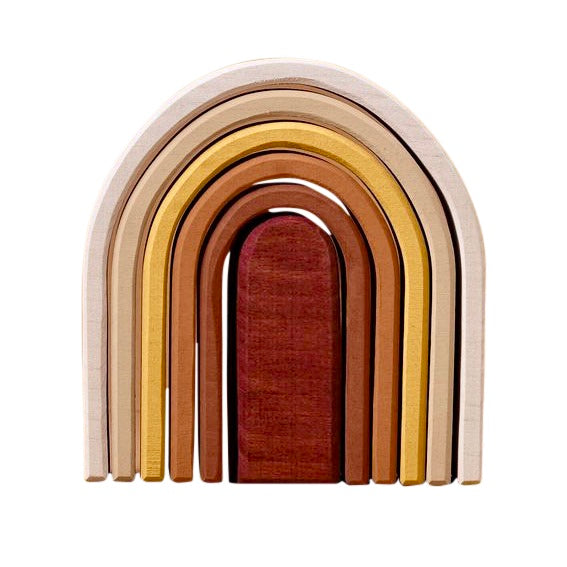 Raduga Grëz Wooden Oval Rainbow Stacker