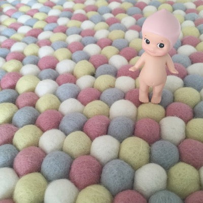 Winston & Grace Felt Ball Rug - Pink Lemonade