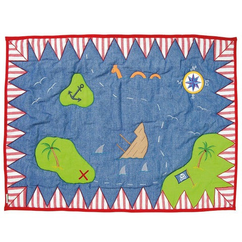 Pirate Shack Playhouse Floor Quilt
