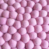 Winston & Grace Felt Ball Rug - Pretty In Pink